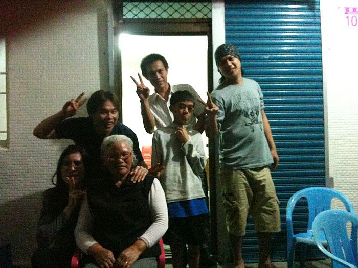어떤 대만사람들은 자기 집에서 재워주기도 했다.