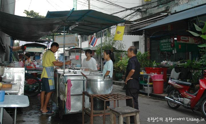 태국 방콕의 노점