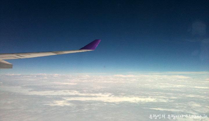 비행기를 타면 흔히 상상하는 구름 위 세상