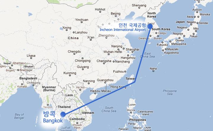 인천 국제공항에서 방콕으로