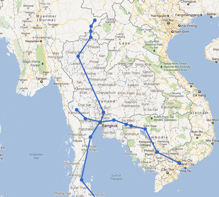 동남아 배낭여행 경로