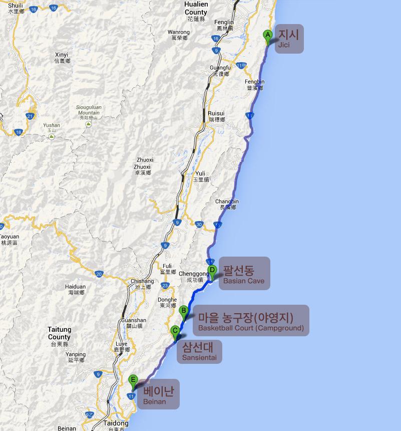 Bicycle Journey in taiwan Jici Taitung Jhiben Taimali