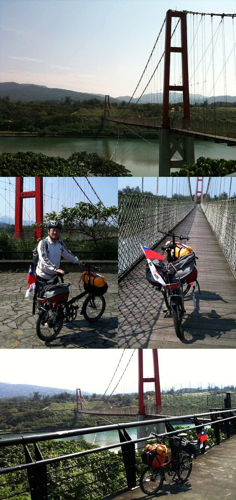 Fulong Beach riding with bicycle in tawian