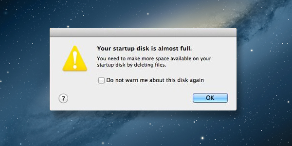 MAC startupdisk almost full