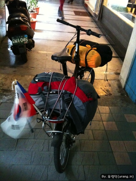 Empieza bicicleta viaje en taipei