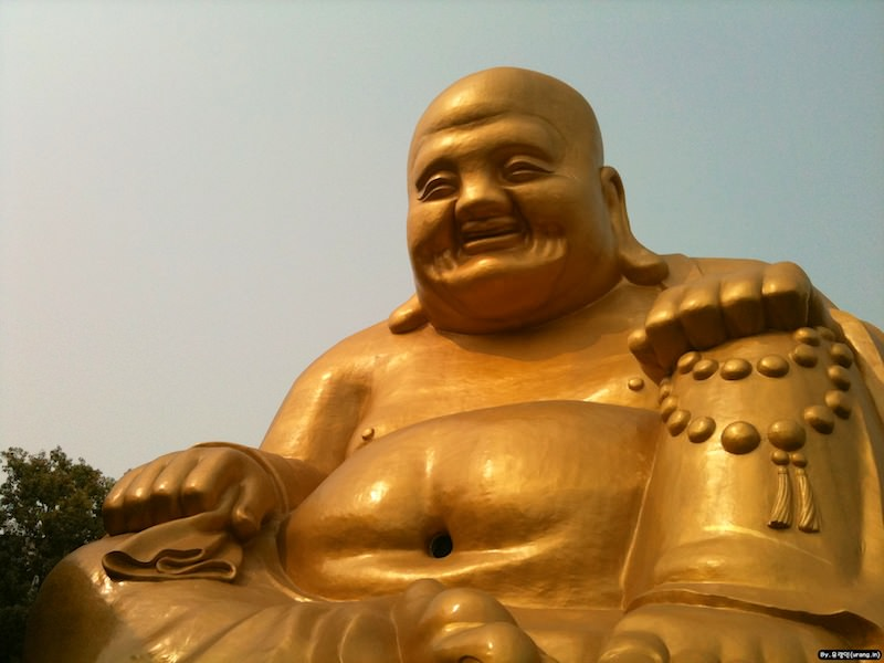Happy buddha in taichung