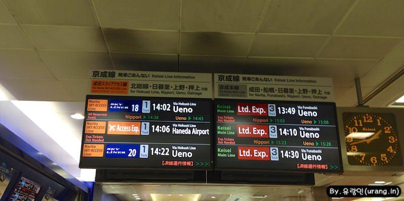 Narita Airport to tokyo express train