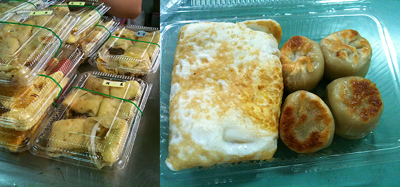 Taiwan lunch box in the morning