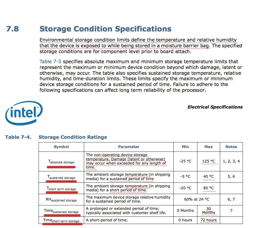 인텔 샌디브릿지(모바일 CPU) 온도에 관한 자료.