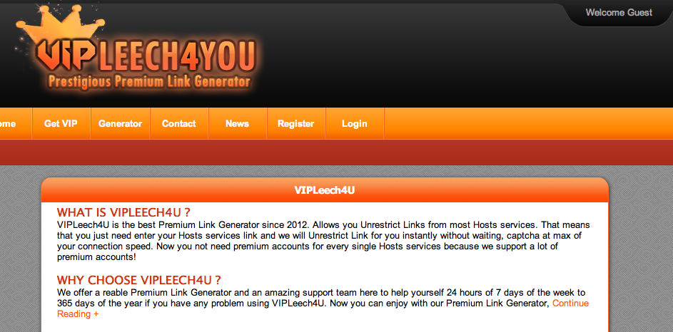 해외 통합 웹하드 - VIPLeech4U