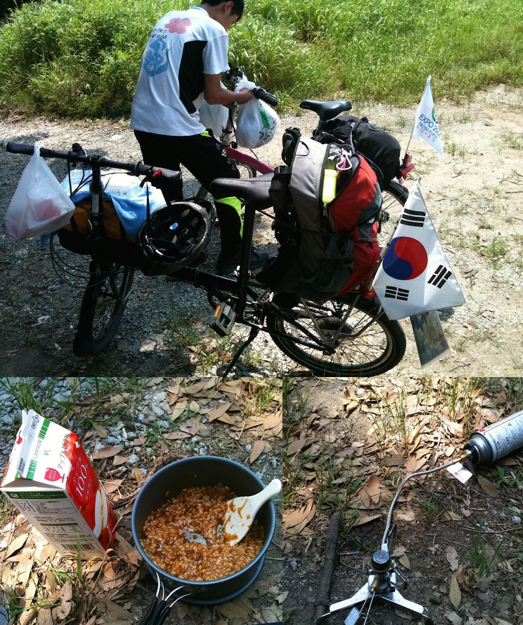 야나가와 가는 도중 점심