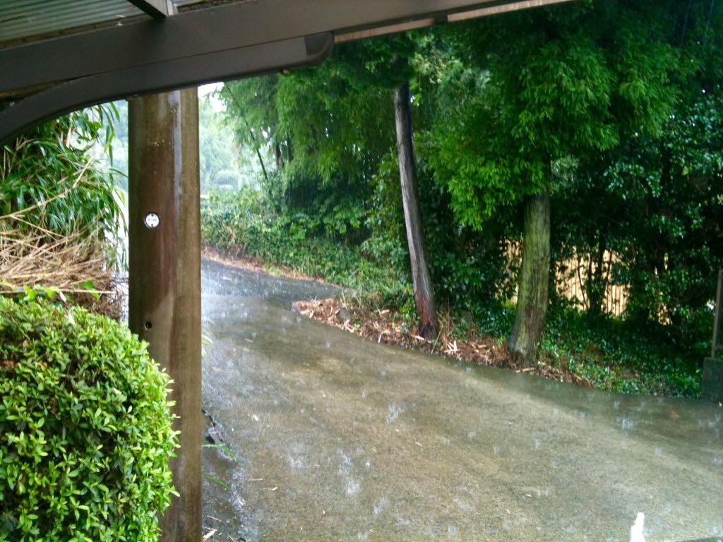 아소산 가는 길에 쏟아진 폭우