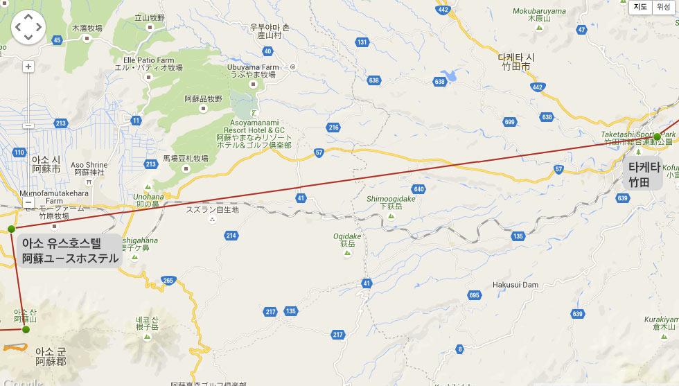 일본 자전거 여행 6일차. 아소(阿蘇) -> 타케타 : 나카지마 공원(竹田:中島公園)